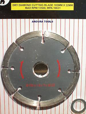 Masonry Cutting Disc Diamond 4 Inch - For Angle Grinder - New.