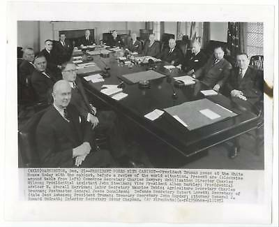 1949 President Harry Truman & Cabinet - Official Photograph ...