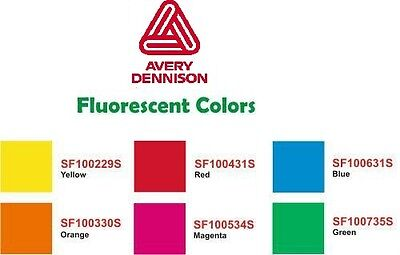 "15"" x 10yd AVERY Fluorescent Sign Vinyl film SUPER BRIGHT!"