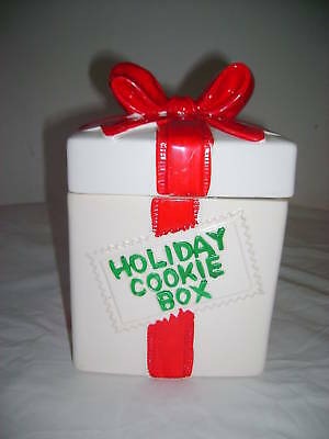 Holiday Cookie Box Cookie Jar