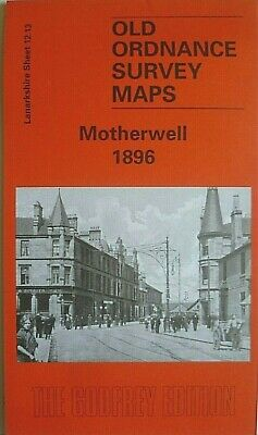Old Ordnance Survey Detailed  Maps Motherwell Lanarkshire  Scotland1896 S12.13