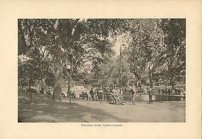 1910 Boston Common Historic Happenings Vintage Article