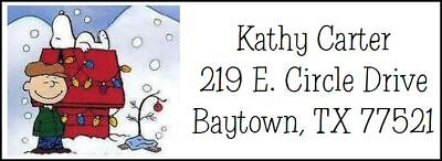 ~SNOOPY & CHARLIE BROWN CHRISTMAS~ Return Address Label