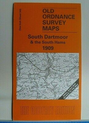 Old Ordnance Survey Maps South Dartmoor South Hams  Plymouth Ivybridge 1909 S349