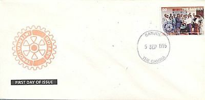 Gambia 1995 Rotary Fdc