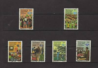 SET/PART SET OF G/FU NH STAMPS FROM BOTSWANA inc HVs