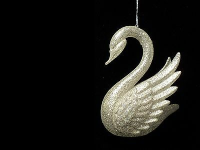 "KSA ""Gold OR Silver Acrylic Swan"" Ornament~Glittery~ Buy One Or Both"