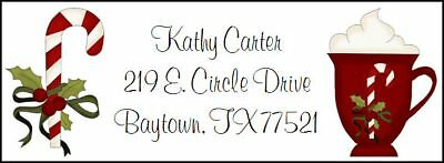 ~CANDY CANE & CHRISTMAS COCOA~  Return Address Labels!