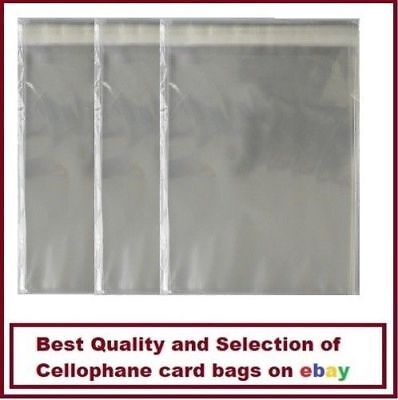 100 Quality 5' X 7' Cello Greeting Card Bags Self Seal