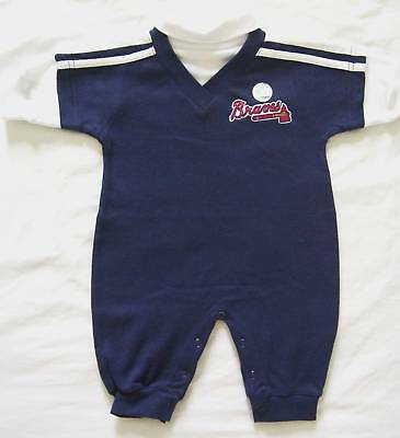 Atlanta Braves Baby Infant Romper Creeper One Piece Outfit  NWOT 6/9M
