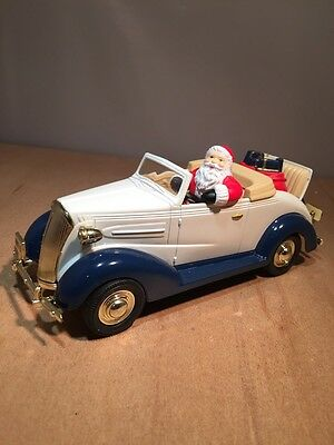 EASTWOOD CHRISTMAS SANTA - 1937 CHEVY CONVERTIBLE  DIECAST BANK by LIBERTY