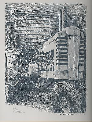 John Deere A Tractor Limited Edition Signed Print Corncrib #'d 16/500