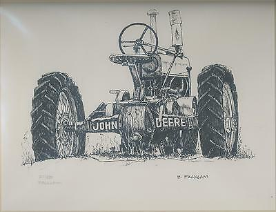 John Deere Tractor Print GP Rear Limited Edition  #'d 27/500 Signed