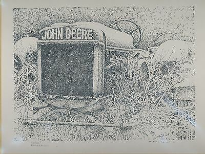 John Deere Tractor Print Snow Limited Edition #'d 52/900 Signed