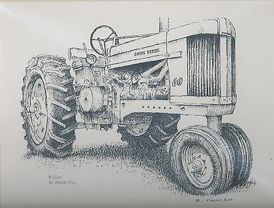John Deere 60 Tractor Signed Limited Edition Print #'d 31/500