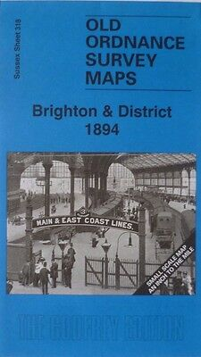 Old Ordnance Survey Maps Sussex Brighton Hassocks & District 1894 Sheet 318 New