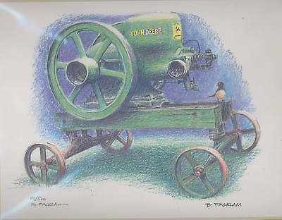 John Deere Print Stationary Engine Print Limited Edition #'d 2/500