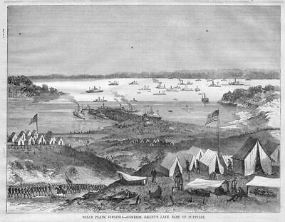 Belle Plain Virginia, General Grant Civil War Army Base