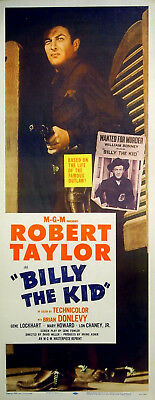 BILLY THE KID 1941 Robert Taylor Brian Donlevy Lon Chaney Jr US 14x36 POSTER