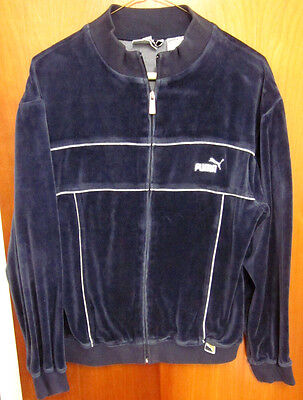 PUMA logo classic 1980s track jacket youth lrg size 14-16 embroidery athletic