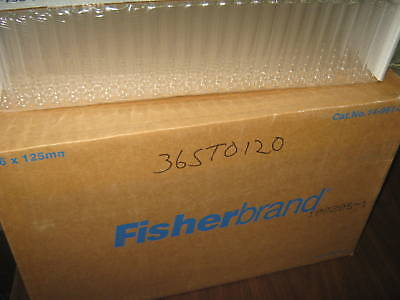 CASE OF 1,000 FISHERBRAND 16 X 125mm DISPOSABLE CULTURE TUBES CAT.NO. 14-961-30