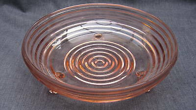 Pink Depression Glass Manhattan Horizontal Rib Candy
