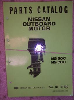 1996 Nissan Outboard Motor Parts Catalog Ns35c Ns40c B