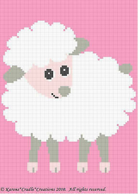 Crochet Patterns - BABY LAMB Afghan Pattern **EASY!**