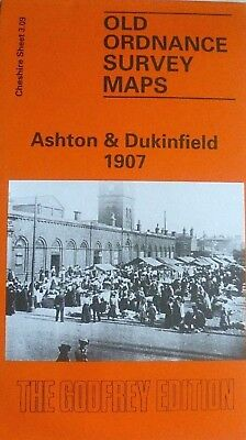Old Ordnance Survey Detailed Maps Ashton & Dukinfield Cheshire 1907 Godfrey Edit