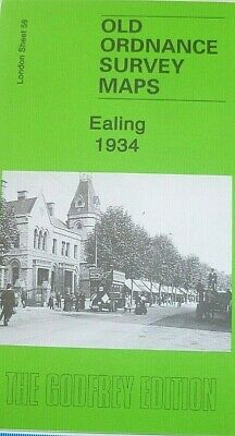 OLD ORDNANCE SURVEY DETAILED MAPS EALING LONDON 1934 Sheet 56 brand new