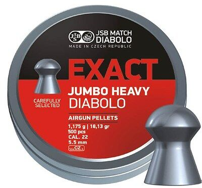 Jsb Exact Jumbo Heavy.22  Pellets Ft Hft Exacts