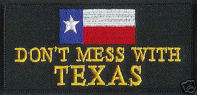 """DONT MESS WITH TEXAS"" VEST JACKET  PATCH PATCHES"