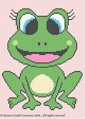 Crochet Patterns - FROG Baby Girl Afghan Pattern