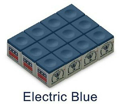 12 x Electric Blue Silver Cup Chalk