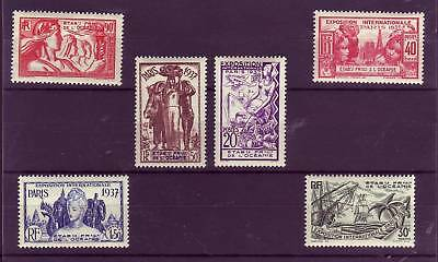 Timbres Oceanie  121 /126  Neufs