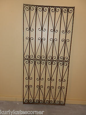 Antique 100+ Year Old French Wrought Iron Gate  *headboard