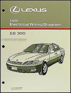 1998 lexus es 300 wiring diagram manual 98 es300 electrical schematics