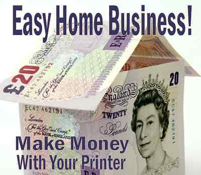 MAKE CASH WITH A COMPUTER PRINTER - Easy Business!