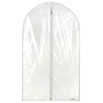 "12 Clear Showerproof Suit Covers Garment Clothes Protector Bags 40"" Hangerworld"