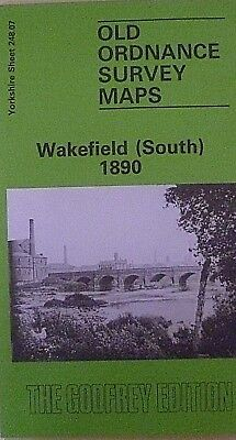 Old Ordnance Survey Detailed Maps Wakefield South Yorkshire 1890 Godfrey Edition