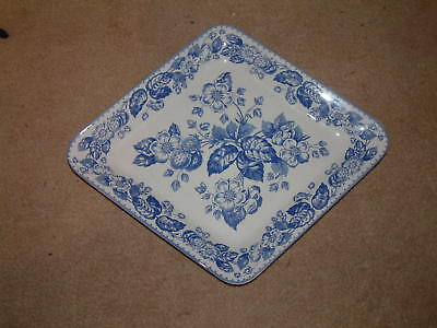 A Spode Blue Strawberry Sandwich Tray Made in -England
