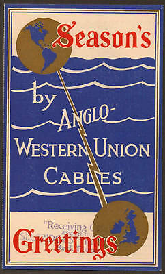 Seasons Greetings Anglo Western Union Cables Telegram