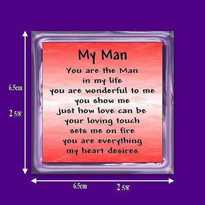 Man In My Life Verse Magnet - Birthday - Boyfriend - I Love You Keepsake Gift