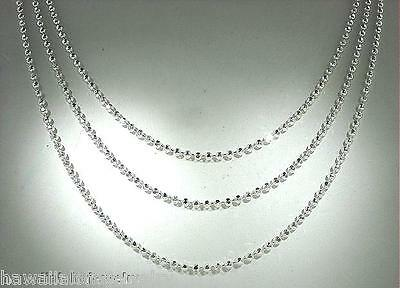 """1.8MM ITALIAN SOLID 925 STER SILVER DC ROPE CHAIN NECKLACE 16/""""-20/""""  #1 5.7-6.4gr"""