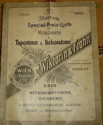 1904 Antique Austria Catalog - Curtain-Rod , Rack ,Loop