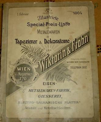1904 Antique Austria Catalog - Curtain-Rod, Rack,Loop