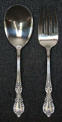 "1959 Rogers Silverplate ""grand Elegance"" Large Fork And Spoon"