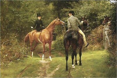 "AFTERNOON RIDE 1882 SIDESADDLE HORSE CANVAS Giclee Art Print - LARGE 19"" x 13"""