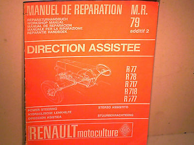 Manuel Reparation Direction Ass. Tracteur Renault 1967