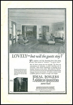 1924 vintage ad for Ideal Boilers and Radiators